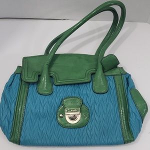 Guess blue and green hand bag